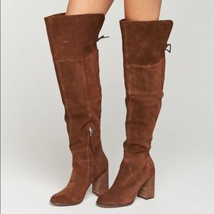 NEW Steve Madden Novela Suede Over Knee Boot 8.5